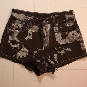 LF army green jean shorts